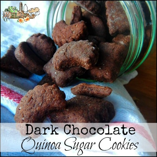 Quinoa and Dark Chocolate Sugar Cookies