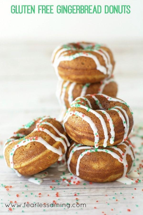 The Best Gluten Free Gingerbread Donut Recipe