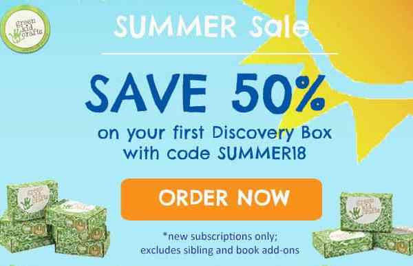 50% off green kids crafts