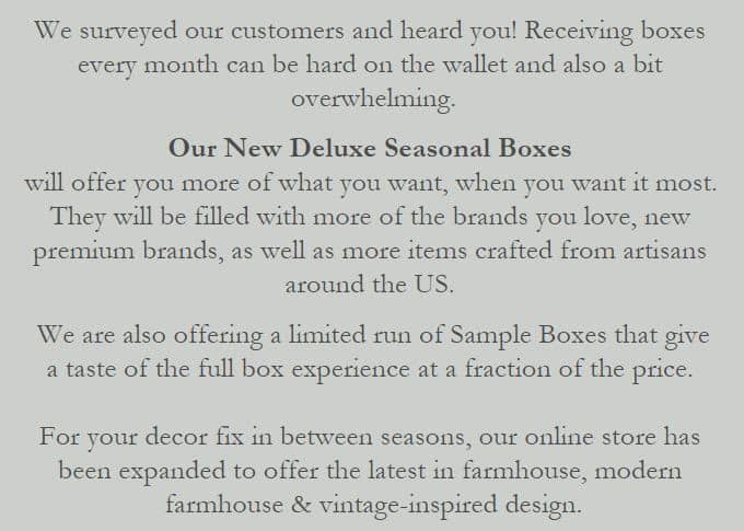 Third Main Now Offering Seasonal Boxes