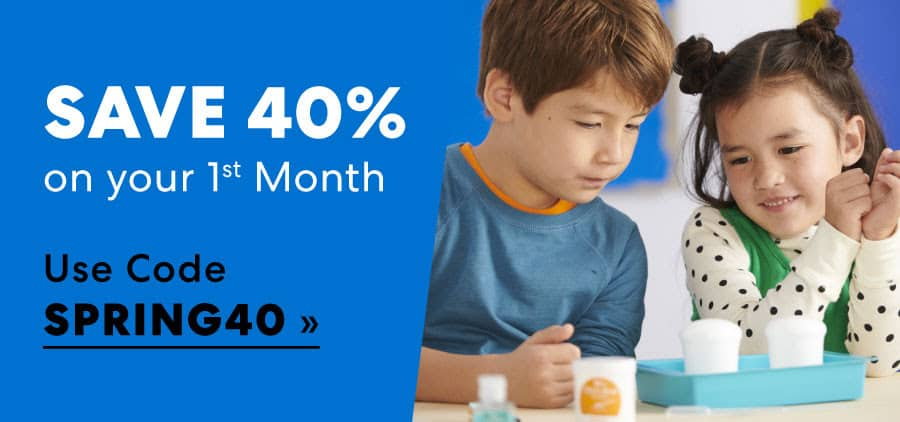 Save 40% on your First Month with Kiwico