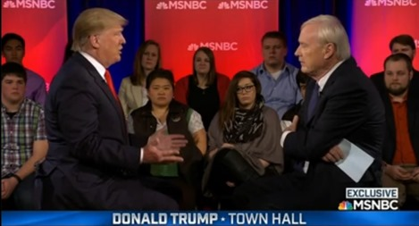 donald trump - chris matthews - town hall - abortion comment