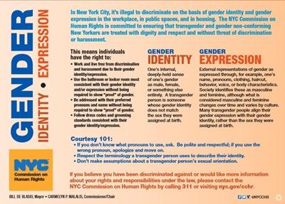 NYC gender ID card