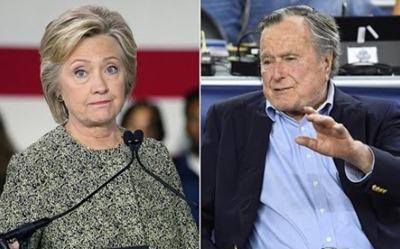 george hw bush voting for hillary clinton