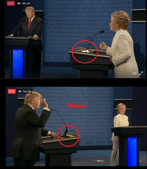 presidential debate podiums different for hillary clinton and donald trump rigged 2