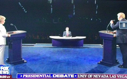 presidential debate podiums different for hillary clinton and donald trump rigged