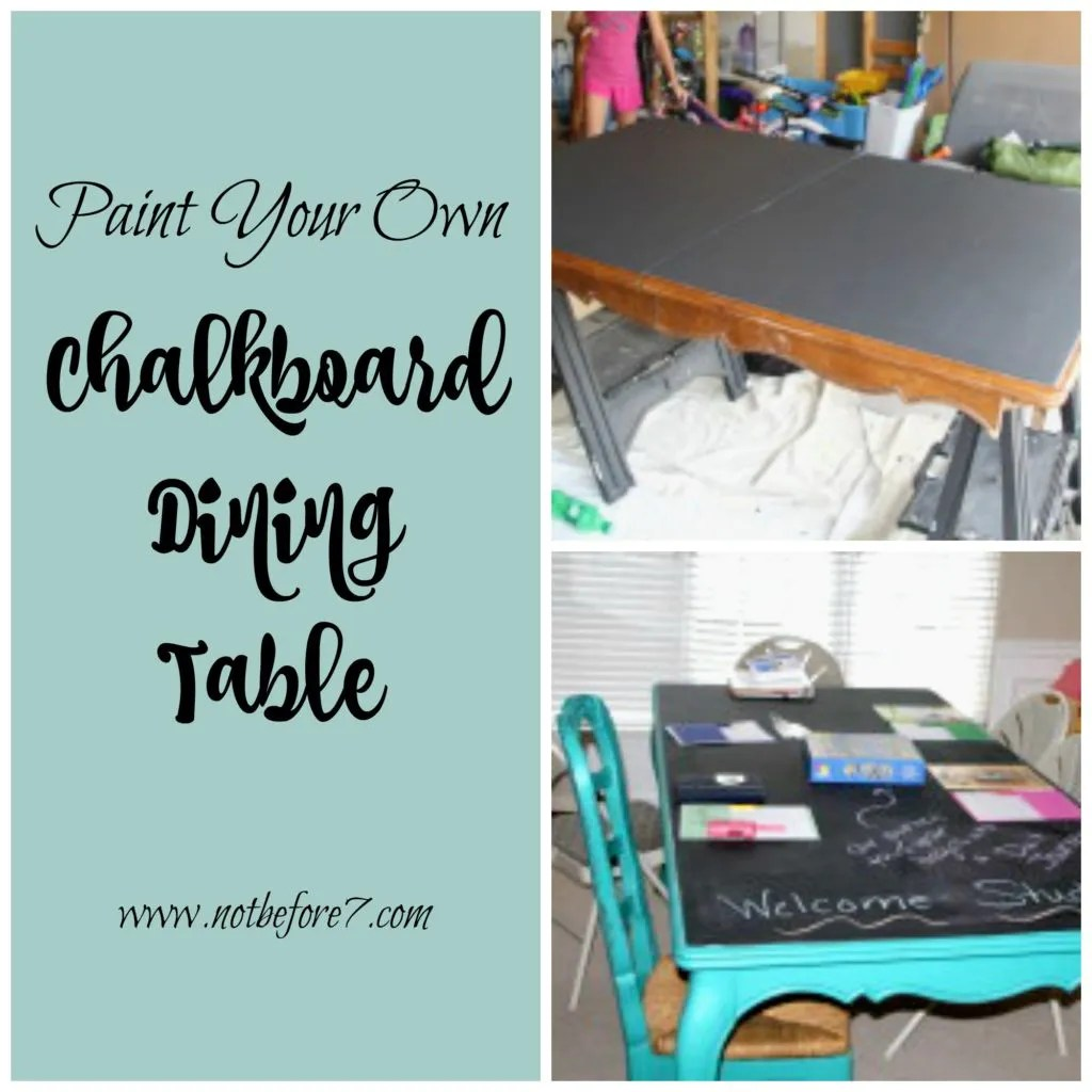 Paint your own Chalkboard Table. Here is how you can do it!