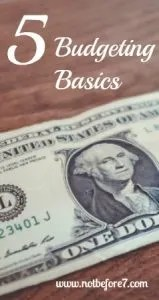 Five Budgeting Basics to improve your budget.