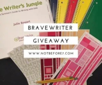 Brave Writer Giveaway. The Writers Jungle.