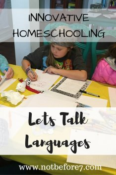 Innovative Homeschooling: Lets Talk Languages