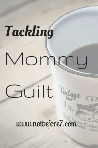 Mommy Guilt. It can hit at the most random times. Here are a few strategies for coping with it when it comes up.