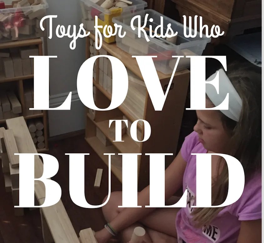 Toys for Children who Like to Build
