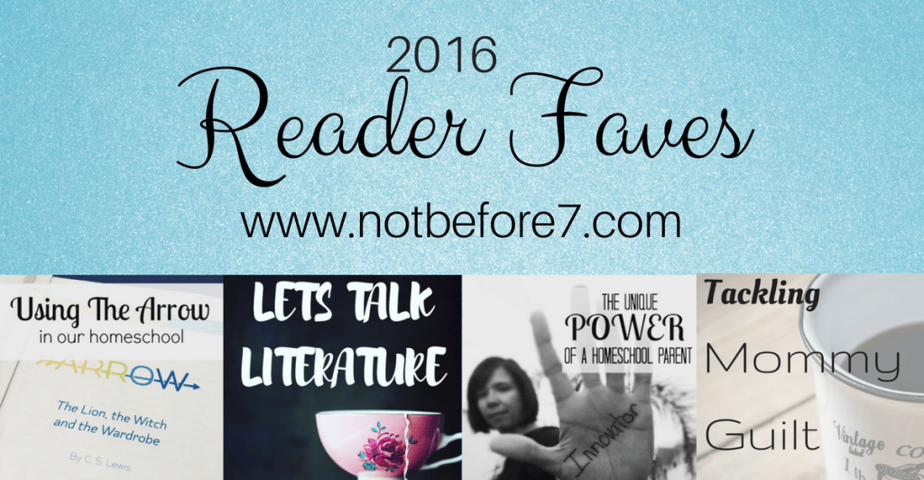 The 2016 Reader Favorites from Not Before 7.