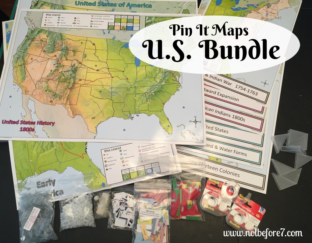 The Pin It Maps US Bundle comes with everything you need to get started.