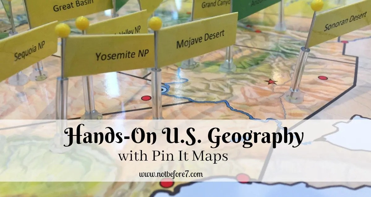 US Geography with Pin It Maps