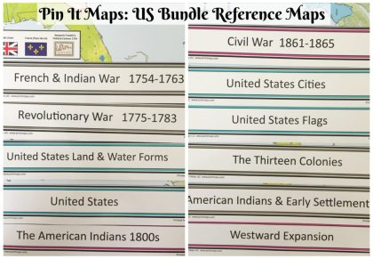 The Reference maps included in the Pin It Map US Bundle.