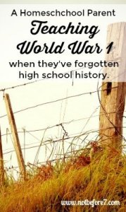 Tips for teaching WW1 from a homeschool mom who forgot all of the history lessons about it.