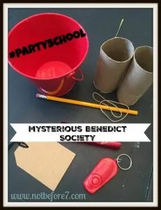 Ideas to turn your Mysterious Benedict Society book club into a memorable, fun event!