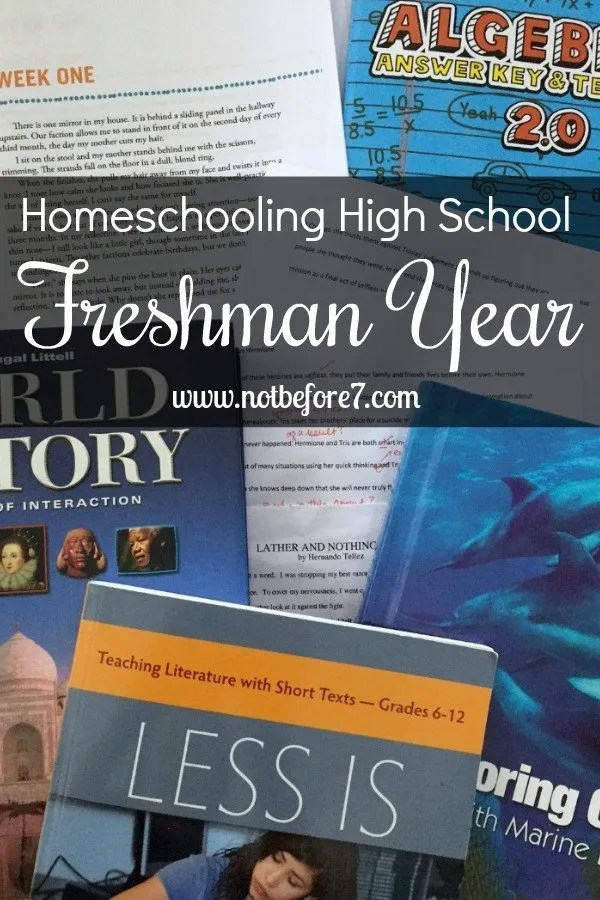 Our plan for homeschooling high school for my daughter's freshman year.