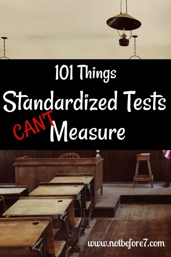 101 Things Standardized Tests Can't Measure