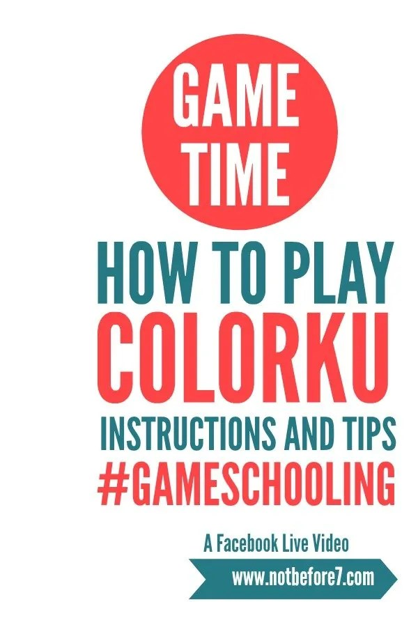 How to Play the ColorKu Board Game