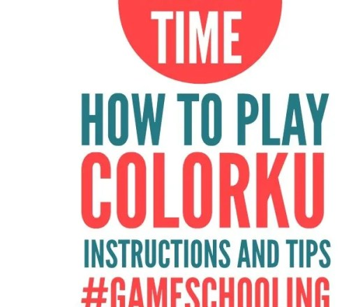 Instructions, Tips, and Tricks for playing ColorKu.