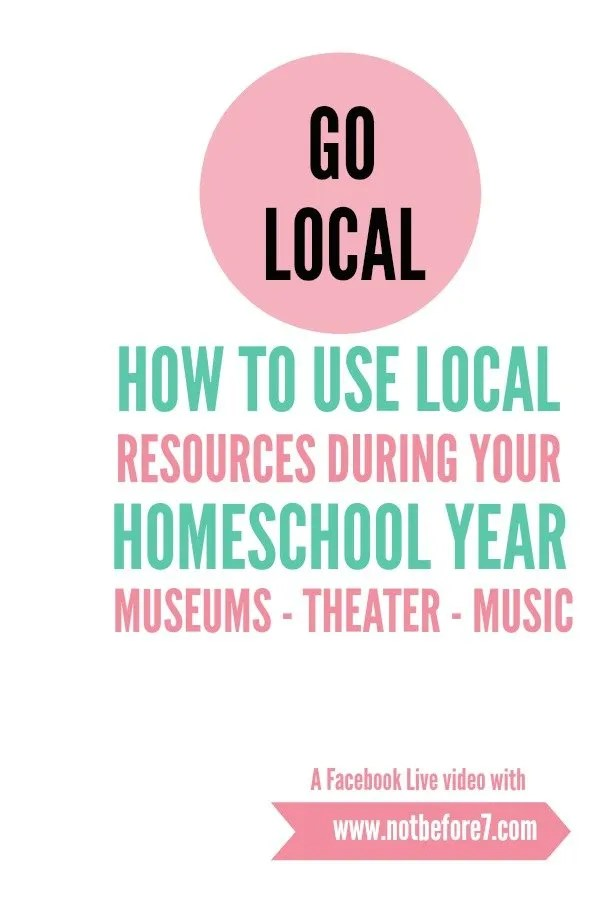 How to use local resources in your homeschool yearly plan.