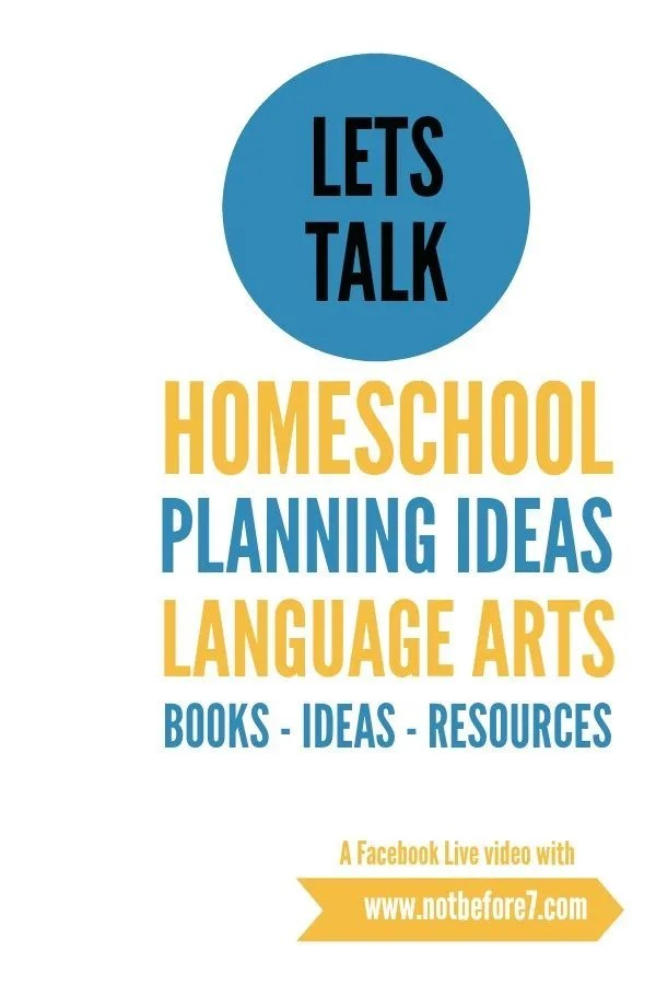 These are the books and resources that I am using to help plan Language Arts in our homeschool.