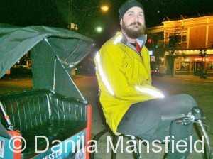 Keaton pedicab driver