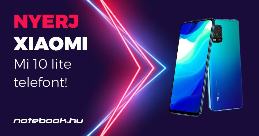 Xiaomi Mi 10 lite Youtube nyereményjáték