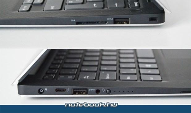Dell XPS 13 portok és bővítőhelyek