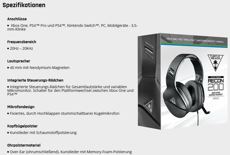 Turtle Beach Recon 200 Und Stealth 300 Gaming Headsets