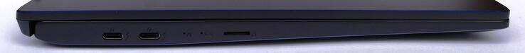 Left side: 2x Thunderbolt 3, microSD card reader