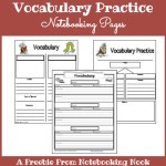 Freebies: Vocabulary Practice Notebooking Pages