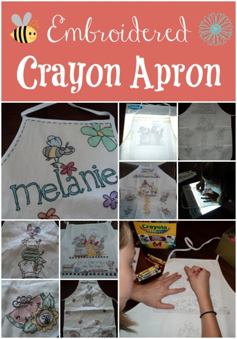 Embroidered Crayon Apron
