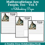 Freebie: Mathematicians are People, Too - Vol. 2 Notebooking Pages