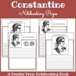 Freebie: Constantine Notebooking Pages