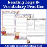 Freebie: Reading Logs & Vocabulary Practice