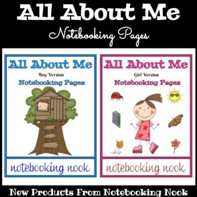 New Titles: All About Me Notebooking Pages