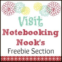 Visit Notebooking Nook's Freebie Section