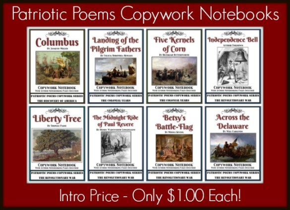 Patriotic Poems Copywork Intro Price - Only $1.00 Each