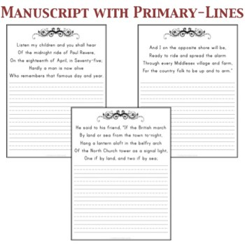 Manuscript with Primary-lines