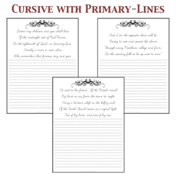 Cursive with Primary-lines