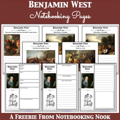 Free Benjamin West Notebooking Pages