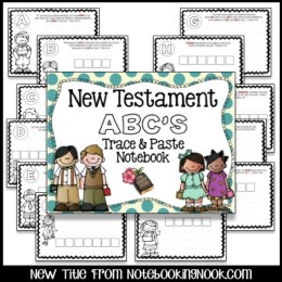 New Testament ABC's Trace & Paste Notebook
