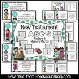 New Testament ABC's Wall Posters & Memory Cards