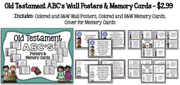 Old Testament ABC's Wall Poster & Memory Cards