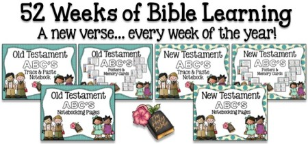 52 Weeks of Bible Learning! A new verse... every week of the year!