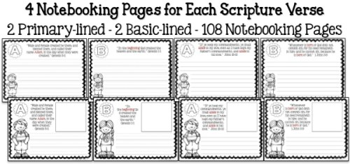 Bible ABC's Notebooking Pages Sample