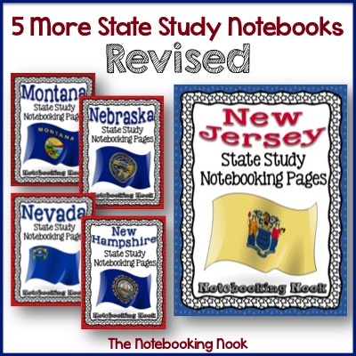 5 More State Study Notebooks Revised!